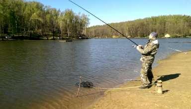 Рыбалка в парке Лагуна