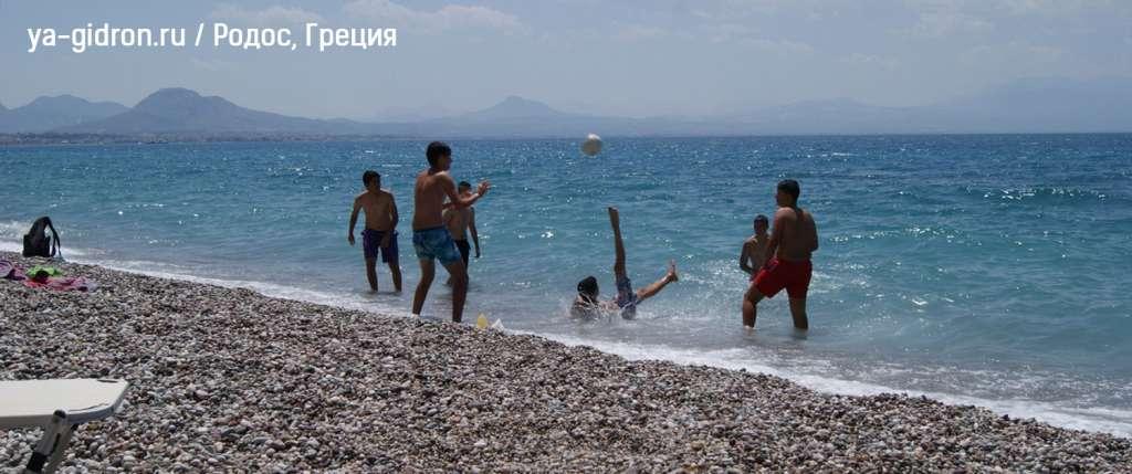 Пляж на о.Родос, Греция